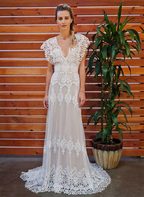 Azalea Boho Cotton Lace Wedding Dress Dreamers And Lovers