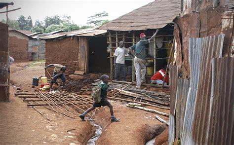 solve  slum poor residents push