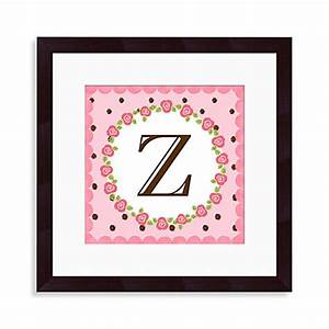 buy monogram letter quotzquot wall art in rose from bed bath With letter z wall art
