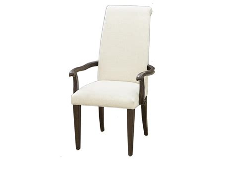 pair   upholstered dining arm chairs
