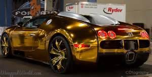 lamborghini diablo buy gold chrome wrapped bugatti veyron owned by flo rida looks grotesque autoevolution