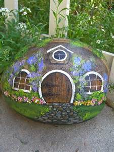 Rock Painting Hobbit House