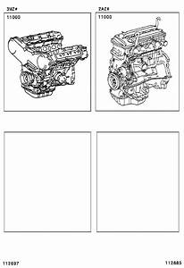 Toyota Solara Engine Assembly  Partial  Components