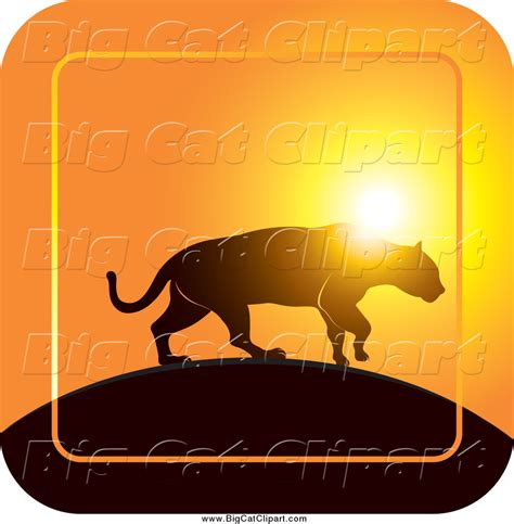 Royalty Free Stock Big Cat Designs of Silhouettes