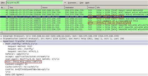 wireshark yahoo isa allowed signatures firewall hunt filter 2006 figure25 capture header messenger