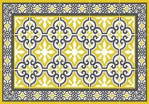 Set De Table Jaune : set de table carreaux de ciment simone jaune moutarde ~ Teatrodelosmanantiales.com Idées de Décoration