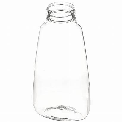 Plastic Bottle Pet Clear Oval Oz Tapered