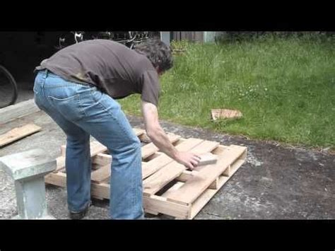 how to dismantle a pallet without splitting it and recover the nails outdoor ideas and