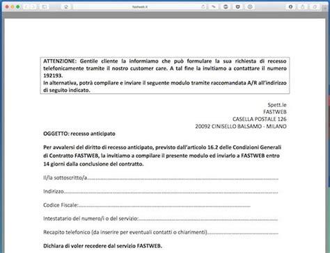 disdetta fastweb mobile come disdire contratto fastweb salvatore aranzulla