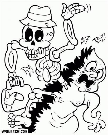 Coloring Pages Halloween Party Colouring Boston Tea