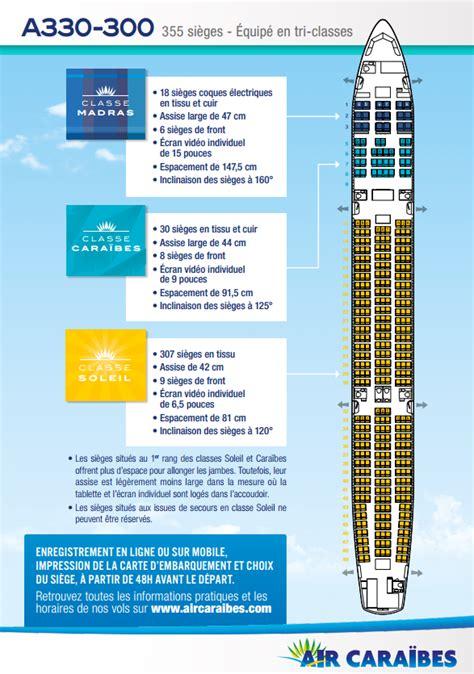 reservation siege corsair plan cabine de notre airbus a330 300 air caraïbes