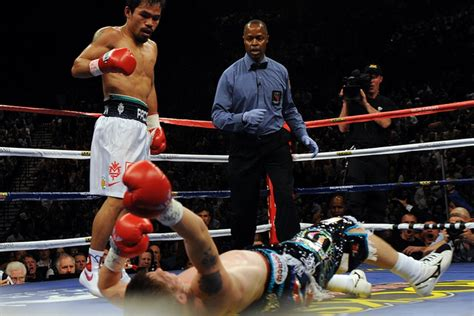 Pacquiao Knocks Out Hatton In Two  Bad Left Hook