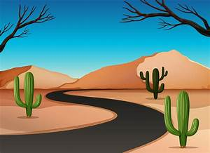 Desert, Land, With, Road, 296728