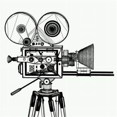 Drawing Film Projector Camera Clipartmag