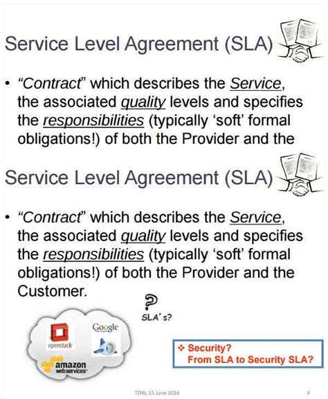 sample service level agreement templates  ms