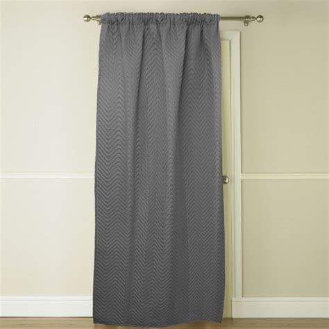 embossed thermal grey door curtain tonys textiles