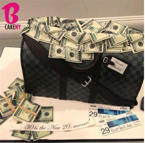 lv duffel bag cake   cake ny money cake funny birthday cakes money birthday cake