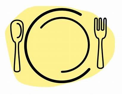 Dinner Plate Spoon Fork Clip Clipart Clipartpanda