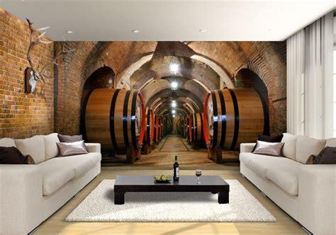 wine cellar custom wallpaper mural print  jw shutterstock