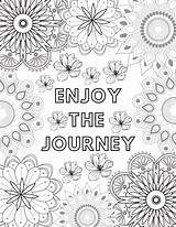 Coloring Crazy Enjoy Calming Anytime Times Mandala Journey Mindfulness Mindful Feel sketch template