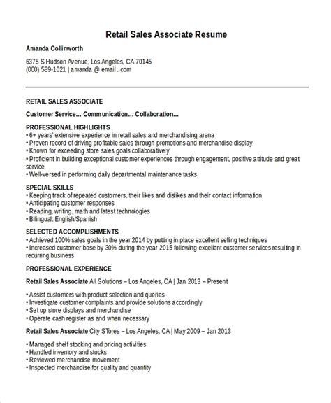 sales associate resume template 8 free word pdf document download free premium templates