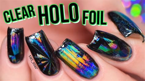 holo heaven clear holographic nail foil youtube