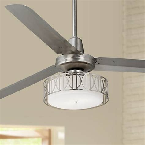 kitchen ceiling fans with bright lights 60 quot casa vieja turbina deco brushed steel ceiling fan 9187