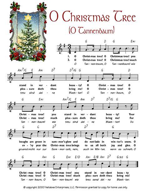 decorate the christmas tree lyrics o tree o tannenbaum sheet