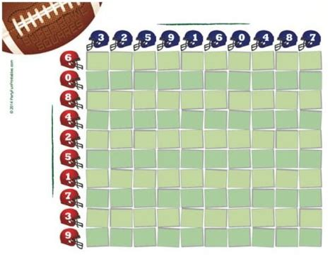Www Free Office Football Pool by Free Printable Bowl Squares For And