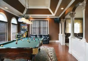 Tray Ceiling Paint Ideas by Game Room Traditional Family Room New York By