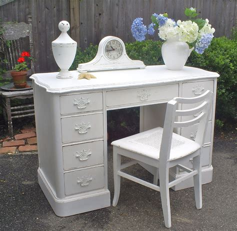 white shabby chic desk desk white shabby chic painted furniture by backporchco on