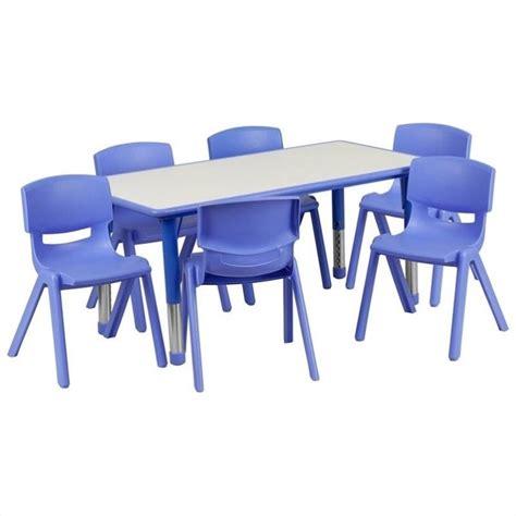 flash furniture plastic activity table set w 6 school