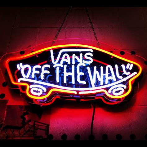 vans off the wall neon light sign van s off the wall one of my fav shoe companies love