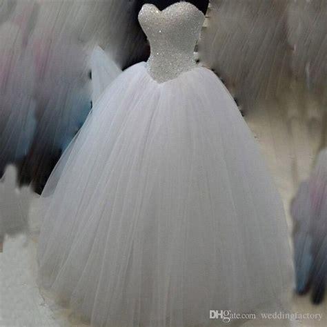 bling ball gown corset puffy wedding dress beades sequins