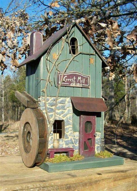 Primitive Birdhouse Grist Mill Rustic