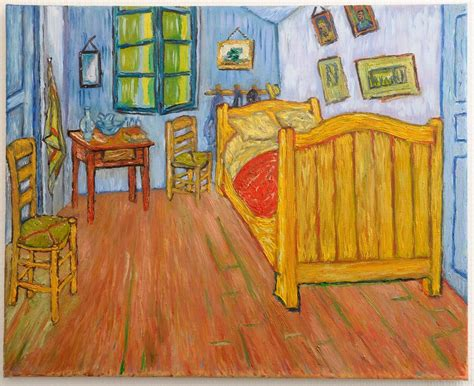la chambre de gogh peinture la chambre de gogh à arles version 1 peinte