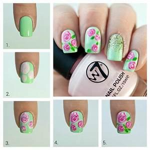 Step by nail art cute design
