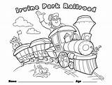 Coloring Train Pages Children Christmas Railroad Park Crossing Drawing Printable Things Rides Trains Easter Boat Irvine Getcolorings Childrens Books Pumpkin sketch template