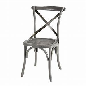 Chaise Rotin Metal : chaise en rotin et m tal grise tradition maisons du monde ~ Teatrodelosmanantiales.com Idées de Décoration