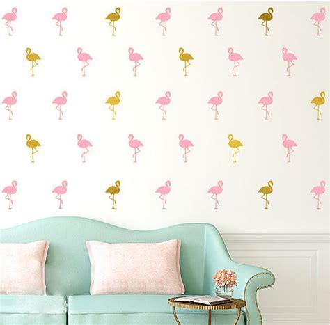 kleine zwaan flamingo vinyl muursticker voor kinderkamer