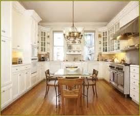 Hickory Cabinets With Granite Countertops by Wood Floors In Kitchen With White Cabinets Home Design Ideas