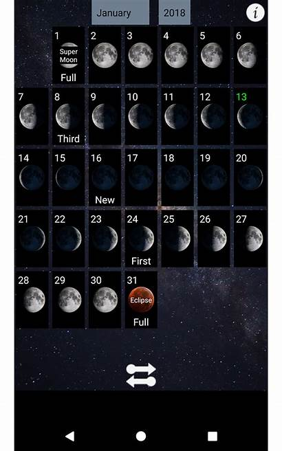 Moon Calendar Lunar Phases Phase Android Games