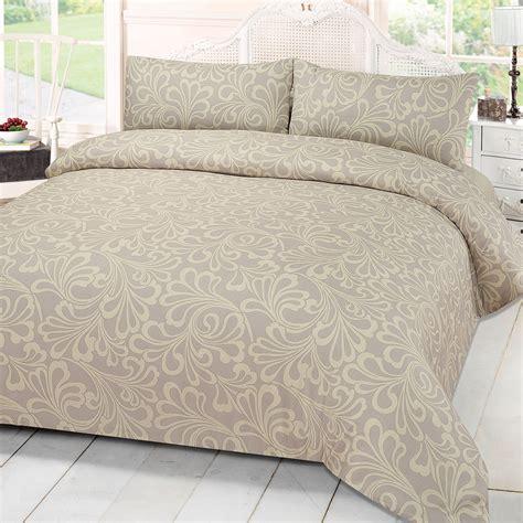duvet cover king damask print quilt duvet cover with pillowcase bedding set
