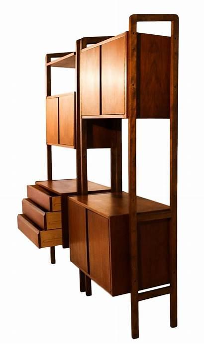 Divider Storage Modern Bookcase Mid Century Hutch