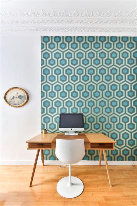 meuble pour separer cuisine salon papier peint pour délimiter l 39 espace bureau