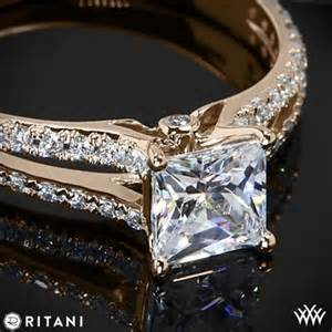 tacori princess cut engagement rings 18k gold ritani set 39 v 39 engagement ring for princess cut diamonds