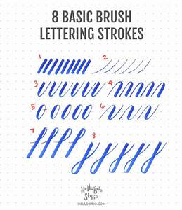 intro to brush lettering basic strokes brush lettering With learn brush lettering