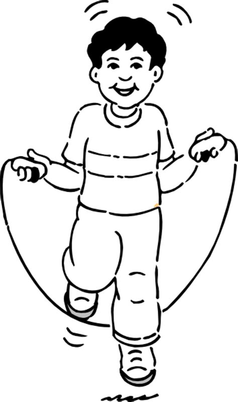 jump rope clipart black and white boy jumping rope clip at clker vector clip