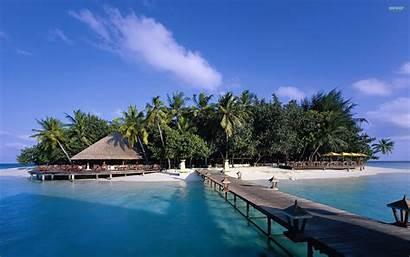 Maldives 4k Beach Wallpapers Island Desktop 2k