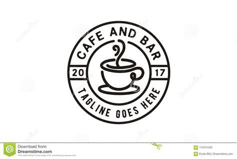 Coffee logo beans brown round cafe menu emblem, mockup design element product banner. Coffee / Cafe Logo Design Inspiration Stock Illustration - Illustration of drink, clean: 118701045